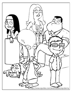 American Dad Family Coloring Pages
