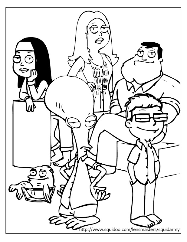 american dad coloring pages family potrait american dad coloring pages title=