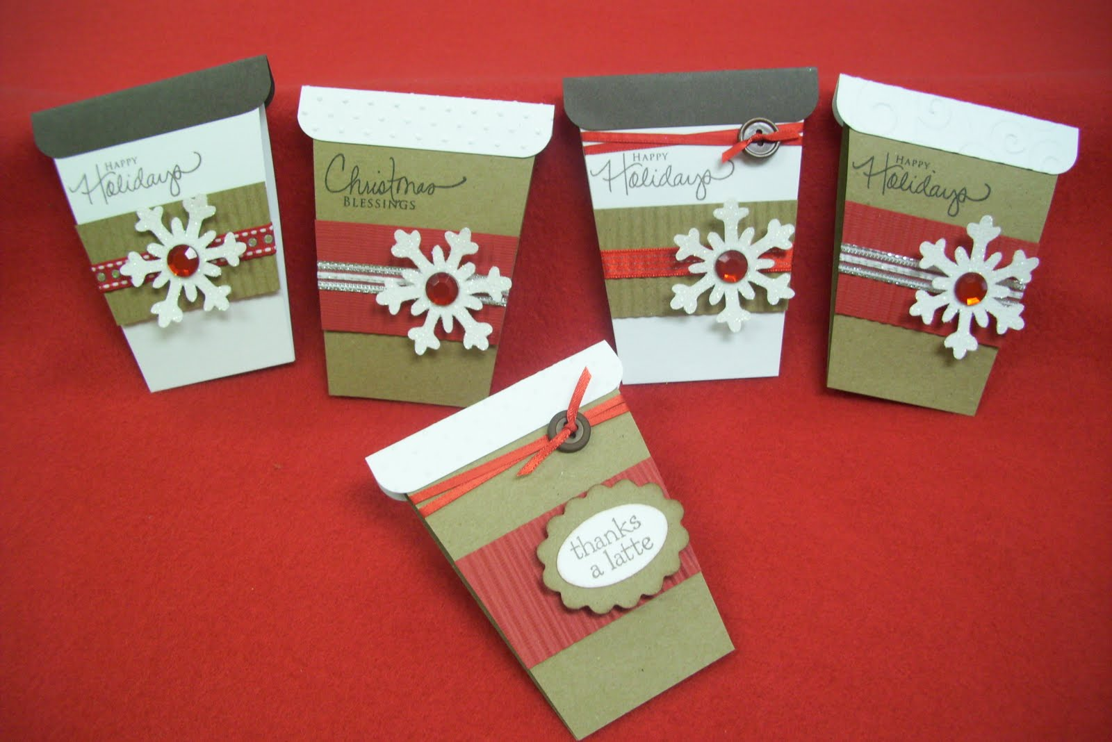 Scrapaholics: Coffee Cup Gift Card Holders