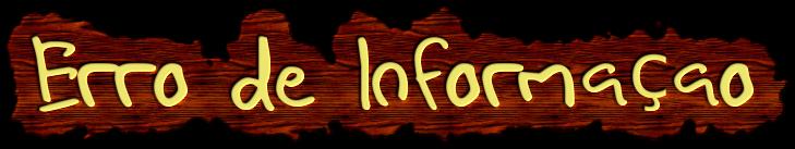 Erro de informação