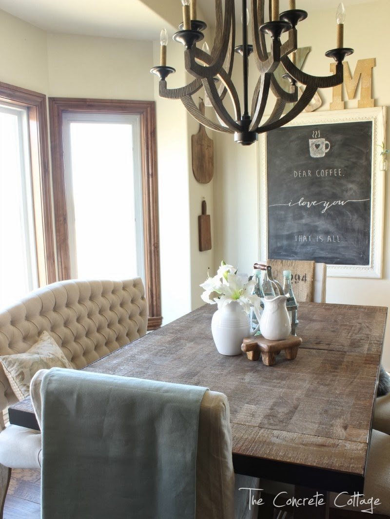 The concrete cottage dining room restyle - Dining room table chandeliers ...