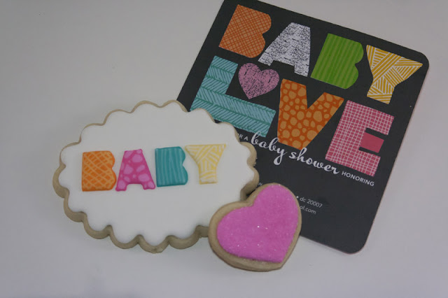 baby shower cookies inspired by invitation