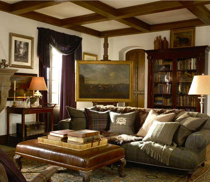 Style code interior inspiration ralph lauren fall home for Ralph lauren living room designs