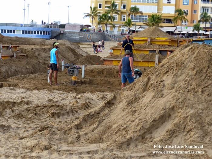Belén de arena 2015, Las Palmas Gran Canaria, Las Canteras