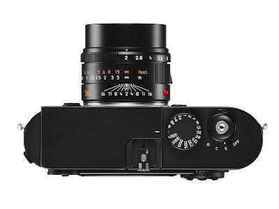 Fotografia della Leica M Monochrom vista dall'alto