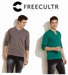 Flat 51% Off  + Extra 10% Off on select Freecultr Henley @ Infibeam