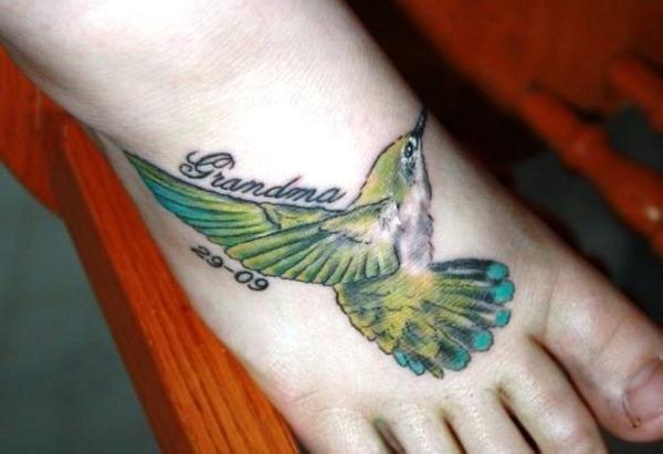Hummingbird Tattoo On Foot Humming Bird Tattoos: ...