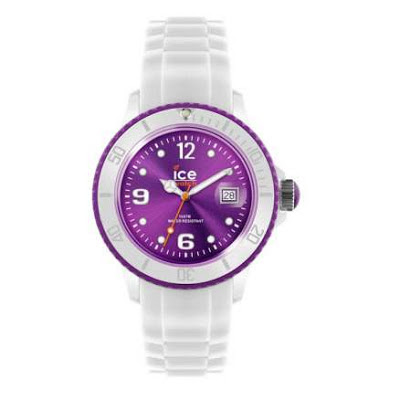 White and Violet Ice Watch