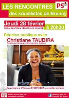 Christiane Taubira en réunion publique à Brunoy