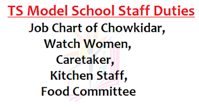 TS Model School Staff Duties