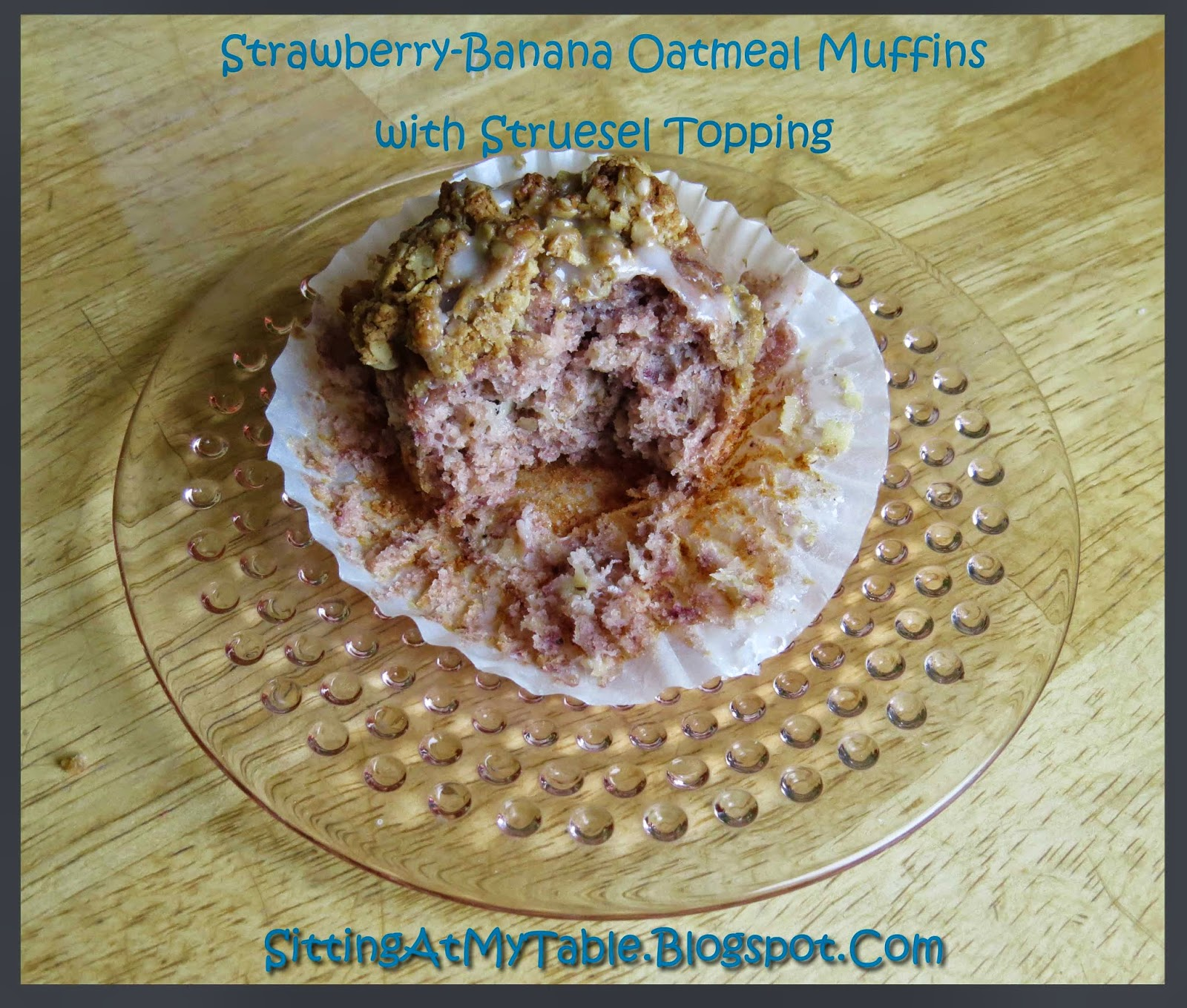 Strawberry-Banana Oatmeal Muffins