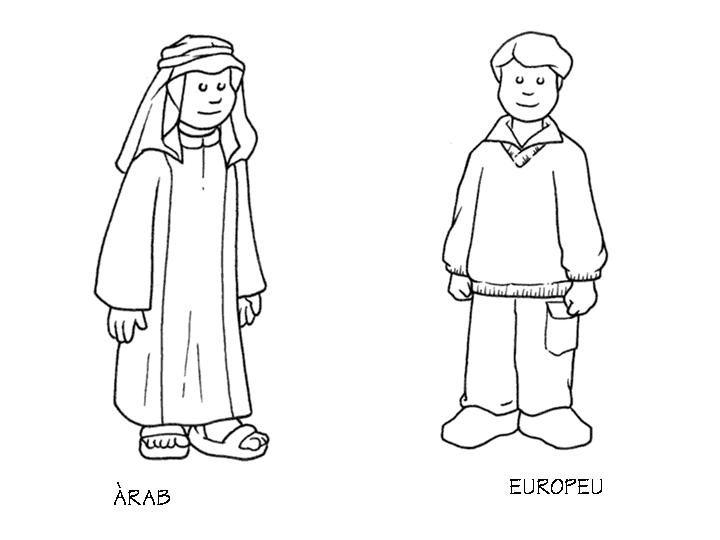 Conocemos el mundo árabe : Fichas para colorear