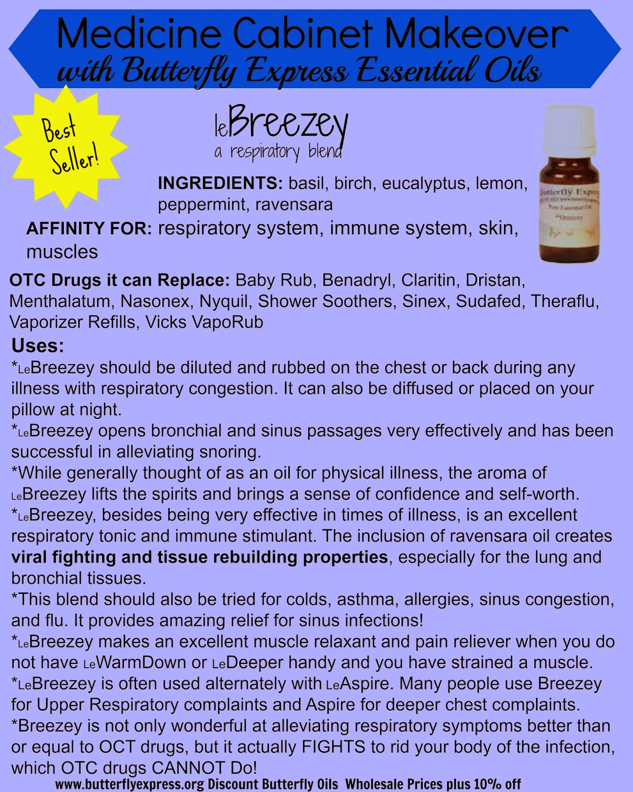 leBreezey Essential Oil-Discount Butterfly Oils