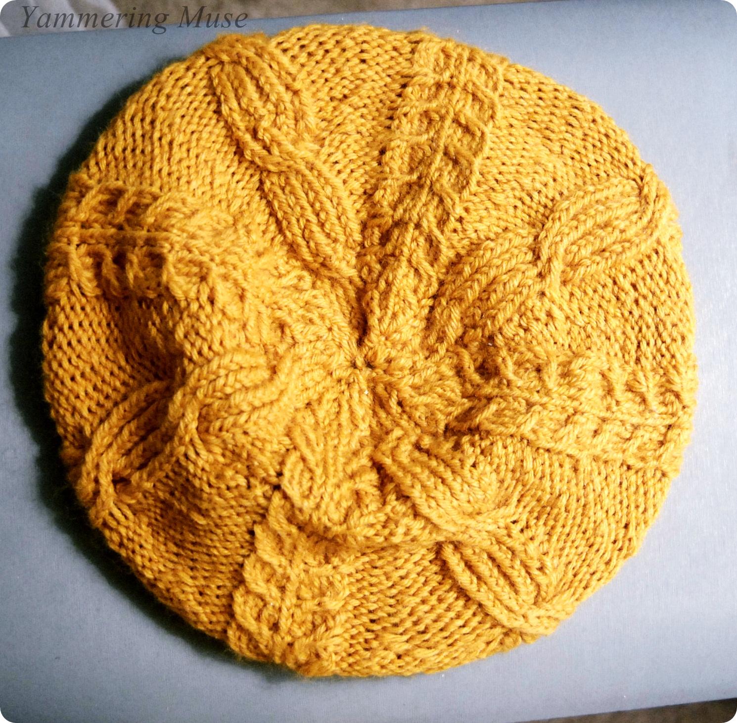 Buttercup Beret Knitting Pattern : Yammering Muse: Mustard Buttercup