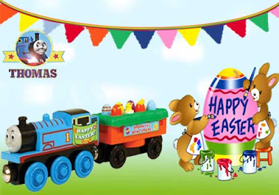 Exclusive Spring holiday season Happy Easter egg car Thomas and Friends Wooden Railway Train Engine