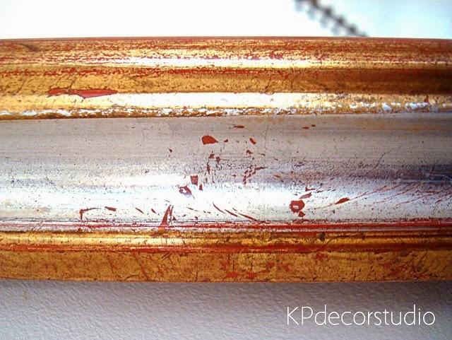 Espejos de madera dorados antiguos estilo vintage artesanales