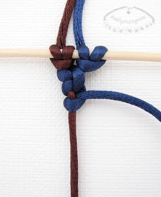 Węzeł frywolitkowy - makrama - 8