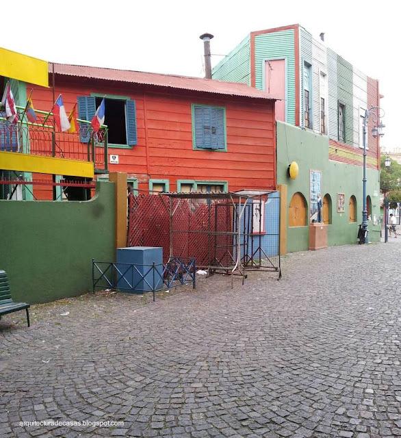 Casas de colores en Caminito, La Boca, Buenos Aires