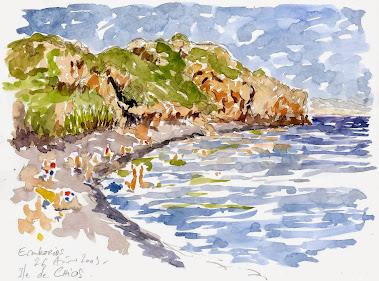 La plage d'Emborios, île de Chios