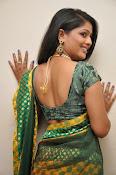 glamorous Anu Sri saree photos-thumbnail-2