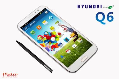 New Hyundai MultiCAV Q6, new smartphone, android phone