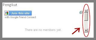 Cara Menambahkan  Fungsi Scroll pada Widget Follower atau Pengikut Blog