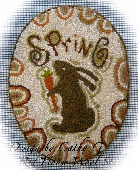 Spring Oval Hooked Rug... My Newest Design!