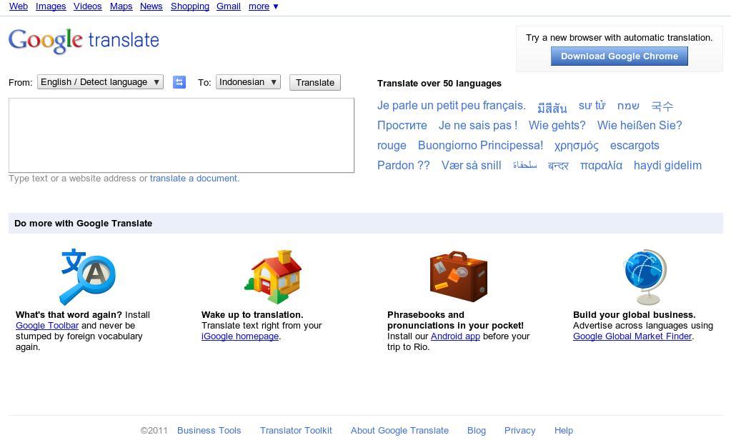 Google Translate Terjemahan Inggris Ke Bahasa Indonesia View Image