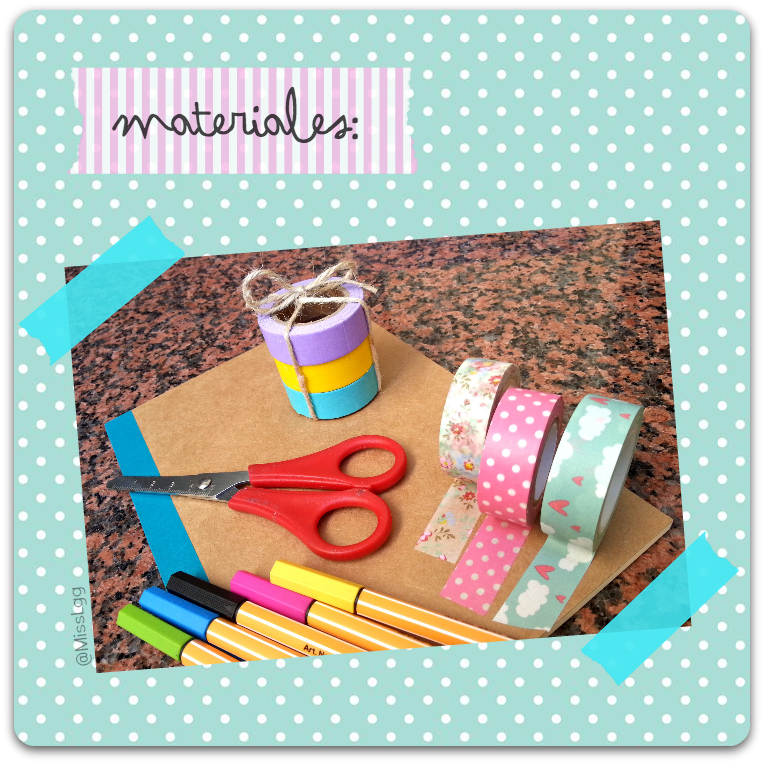 notebook libreta washi tape materials deoración DIY