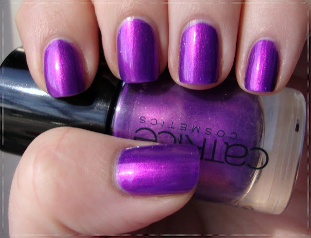 purple nail polish with fuchsia shimmer