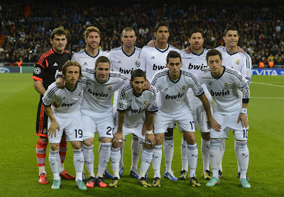 Formasi Tim Real Madrid 2013