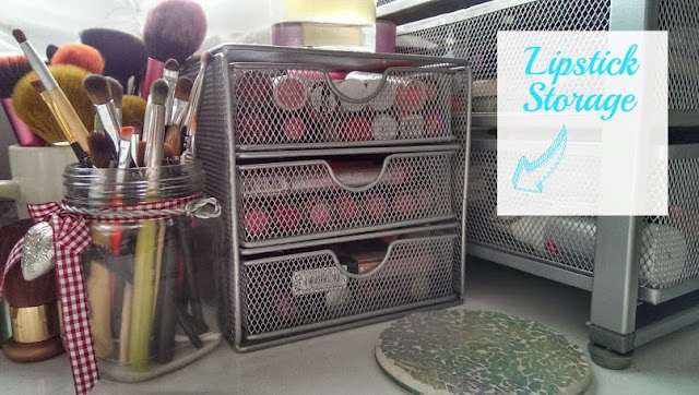 Lipstick storage drawers