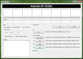 How to change firmware version for Galaxy Y
