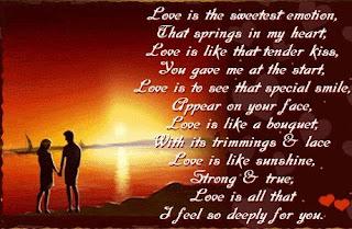 Puisi Ungkapan Rasa Cinta Kepada Kekasih