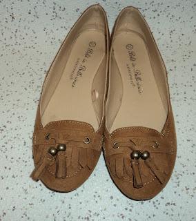 Camel Faux Suede Tassel Loafers