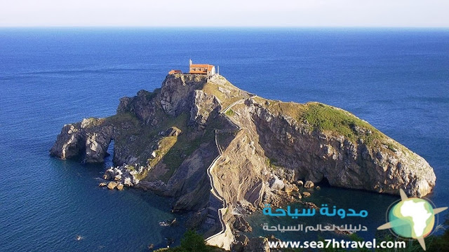 جزيرة سان خوان gaztelugatxe في اسبانيا
