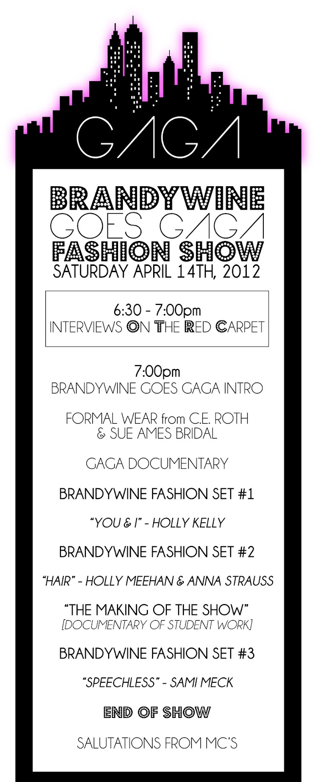 brandywine heights high school art club  brandywine goes gaga fashion show