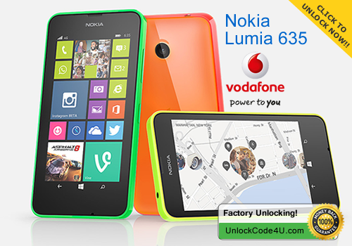 Factory Unlock Code for Nokia Lumia 635
