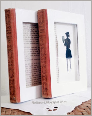 ramka z książek DIY