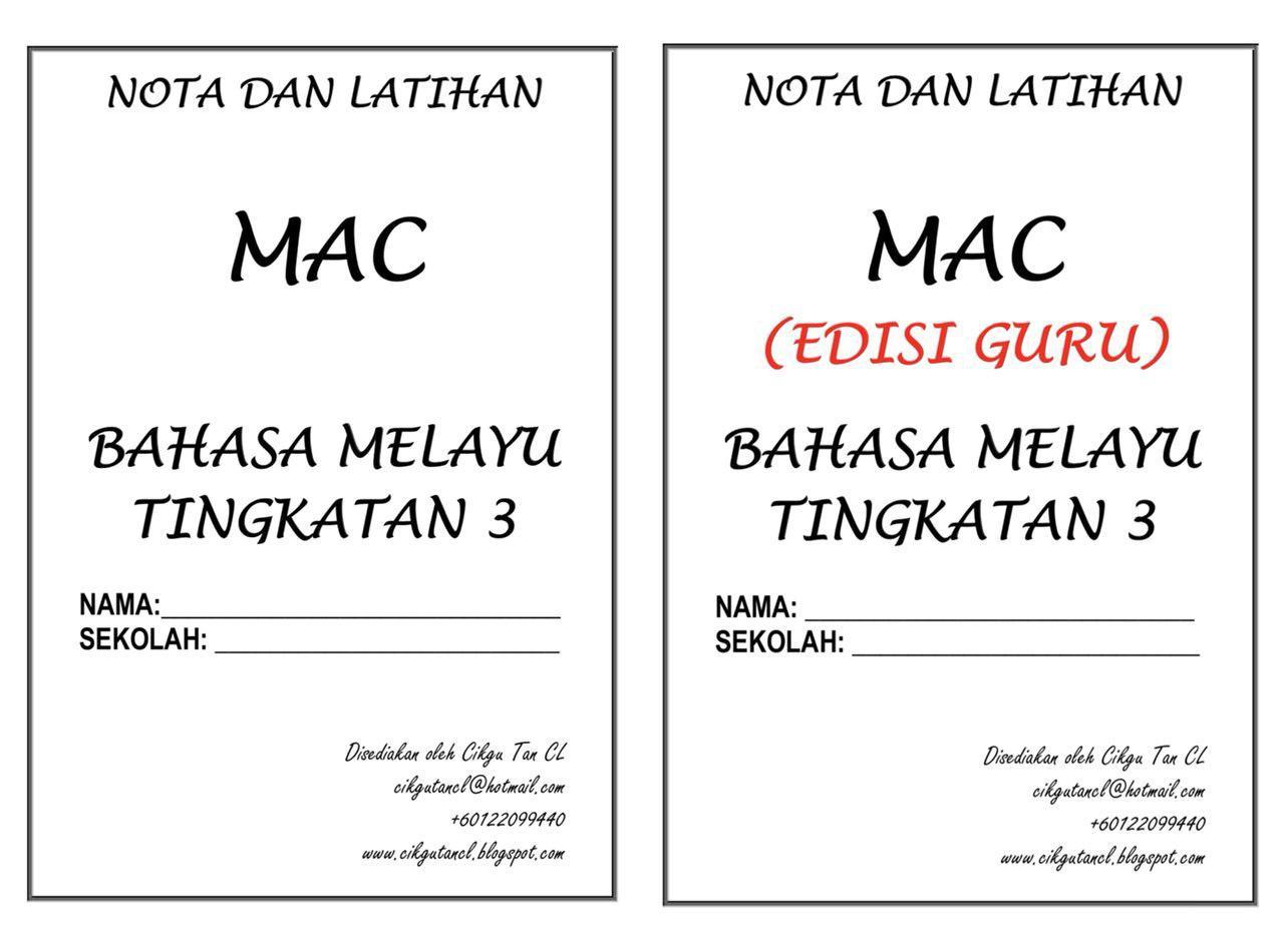 NOTA DAN TUISYEN BAHASA MELAYU KENDIRI (TINGKATAN 3) – MAC