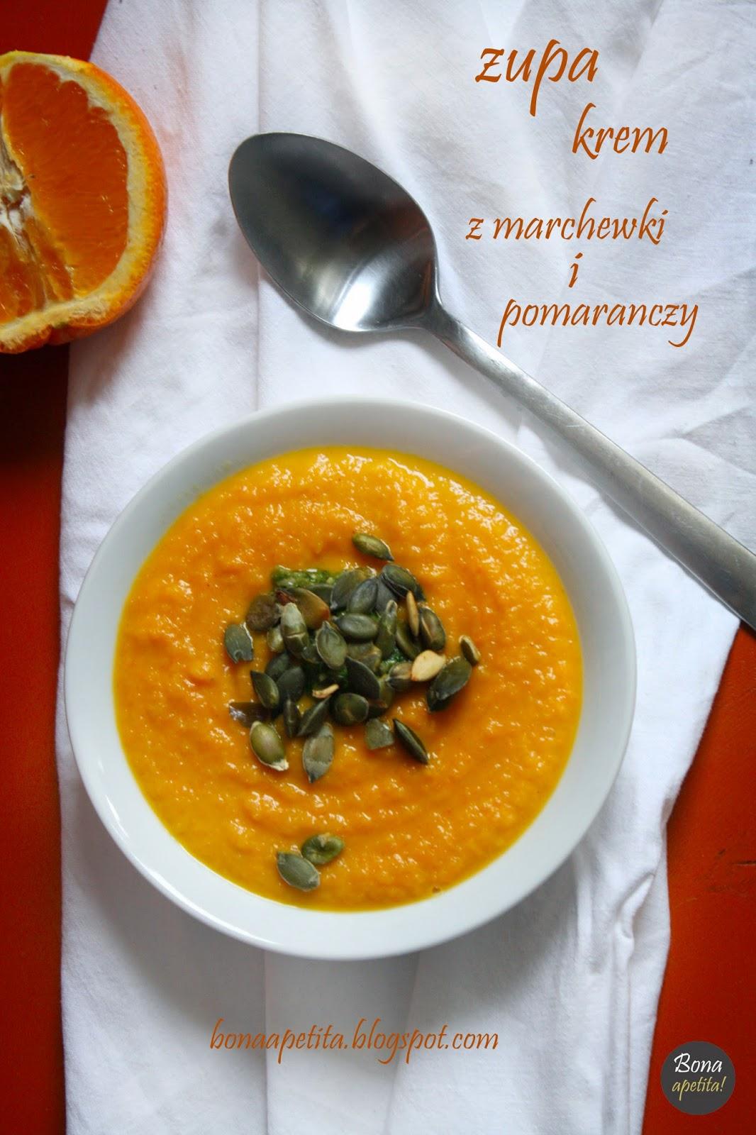 Zupa krem z marchewki z pomarańczami