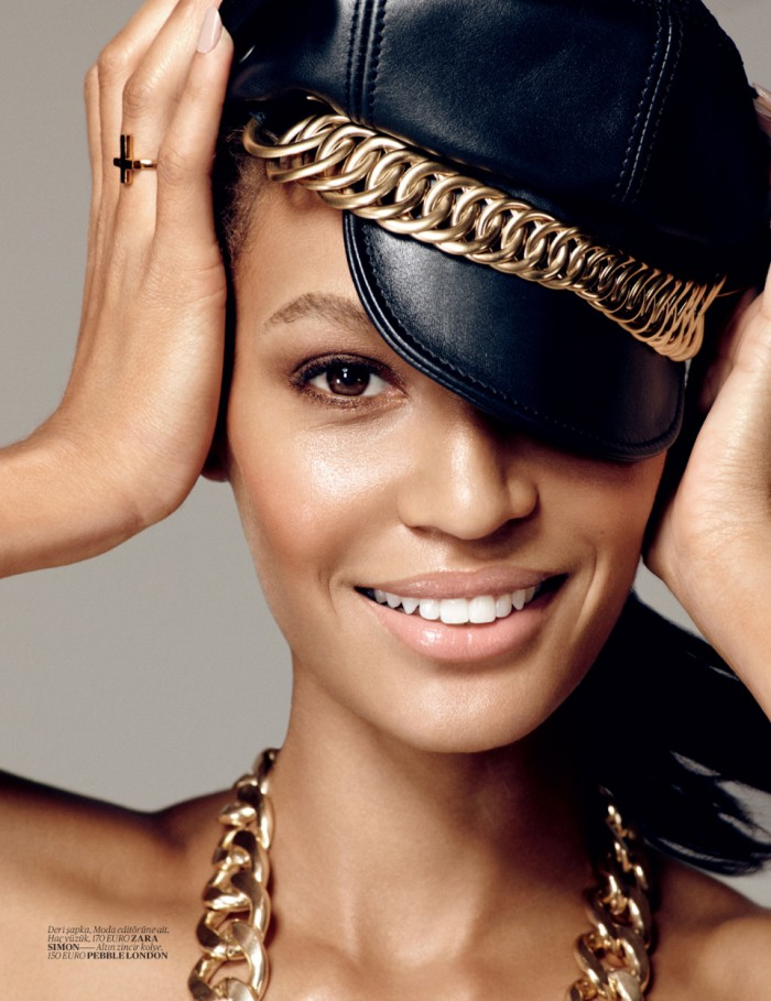 Joan Smalls by Cuneyt Akerogl for Vogue Turkey, December 2012