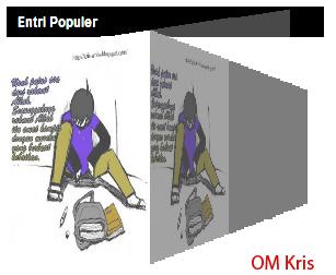 Cara Membuat Popular Post dengan Efek 3D Kubus di Blog.
