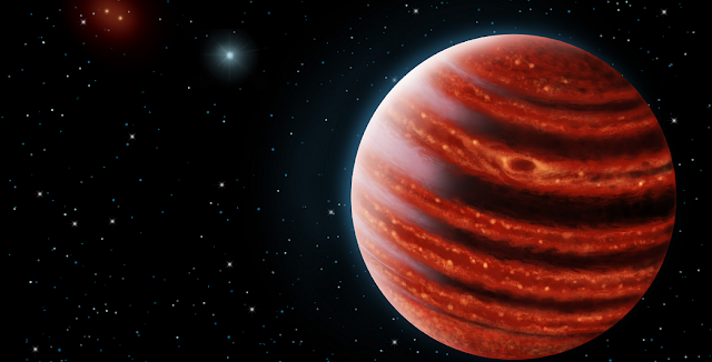Discovery image of 51 Eri b with the Gemini Planet Imager taken in the near-infrared light on December 18, 2014. The bright central star has been mostly removed by a hardware and software mask to enable the detection of the exoplanet one million times fainter. Credits: J. Rameau (UdeM) and C. Marois (NRC Herzberg).