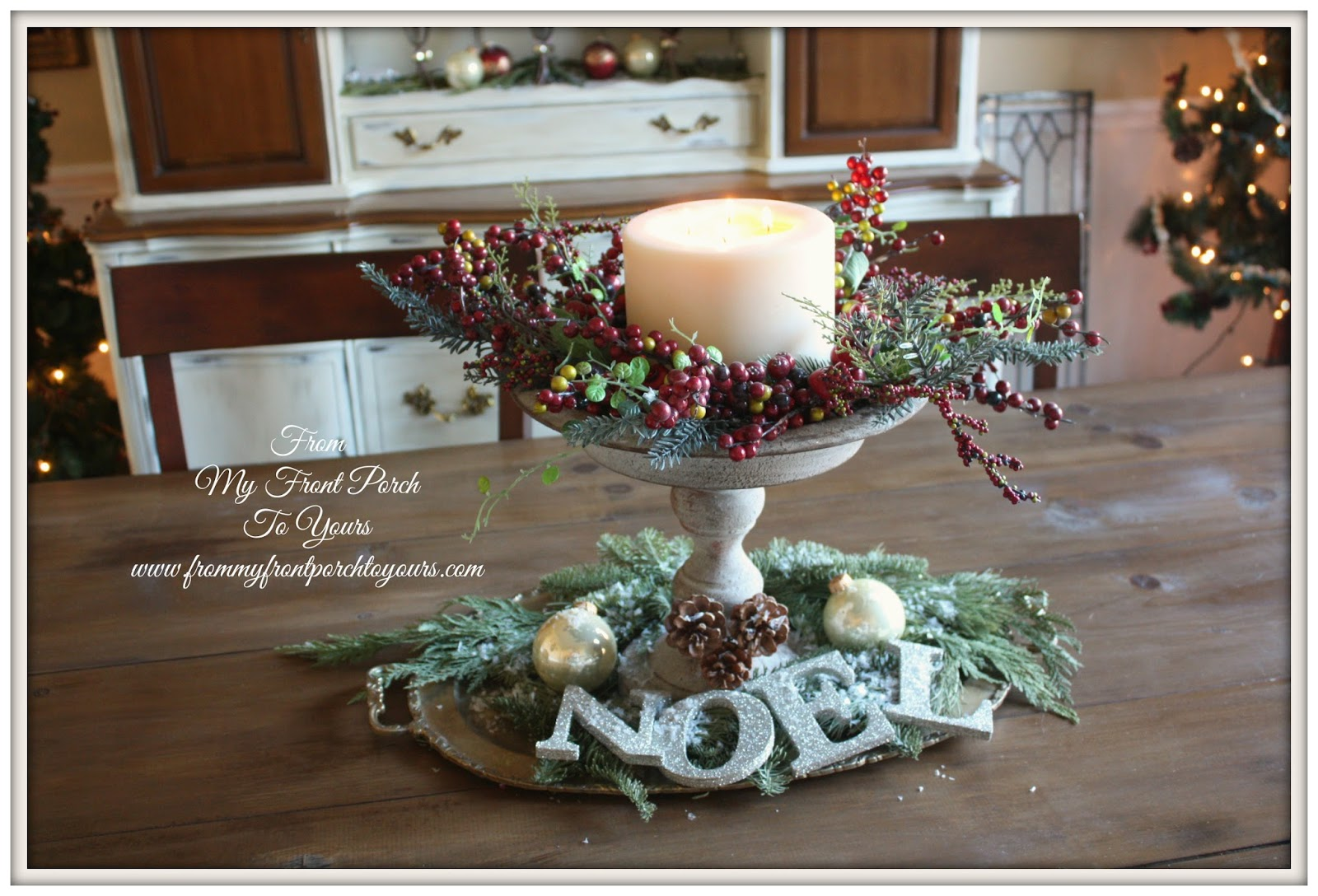 From my front porch to yours french farmhouse christmas dining room 2013 - French country table centerpieces ...