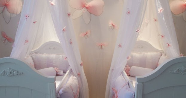 Dormitorio de gemelas for Decoracion de cuarto para ninas gemelas