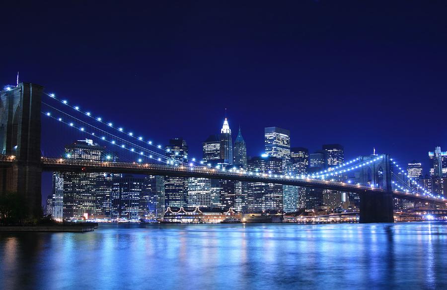 New York Manhattan Brooklyn Bridge