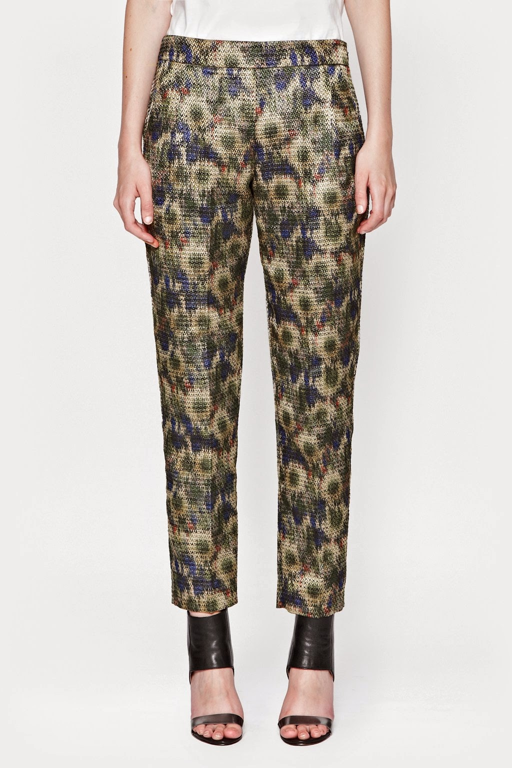 french connection patterned trousers