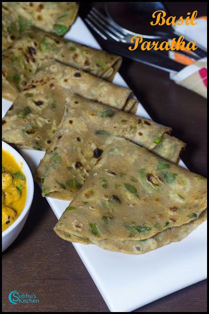 Basil Paratha Recipe