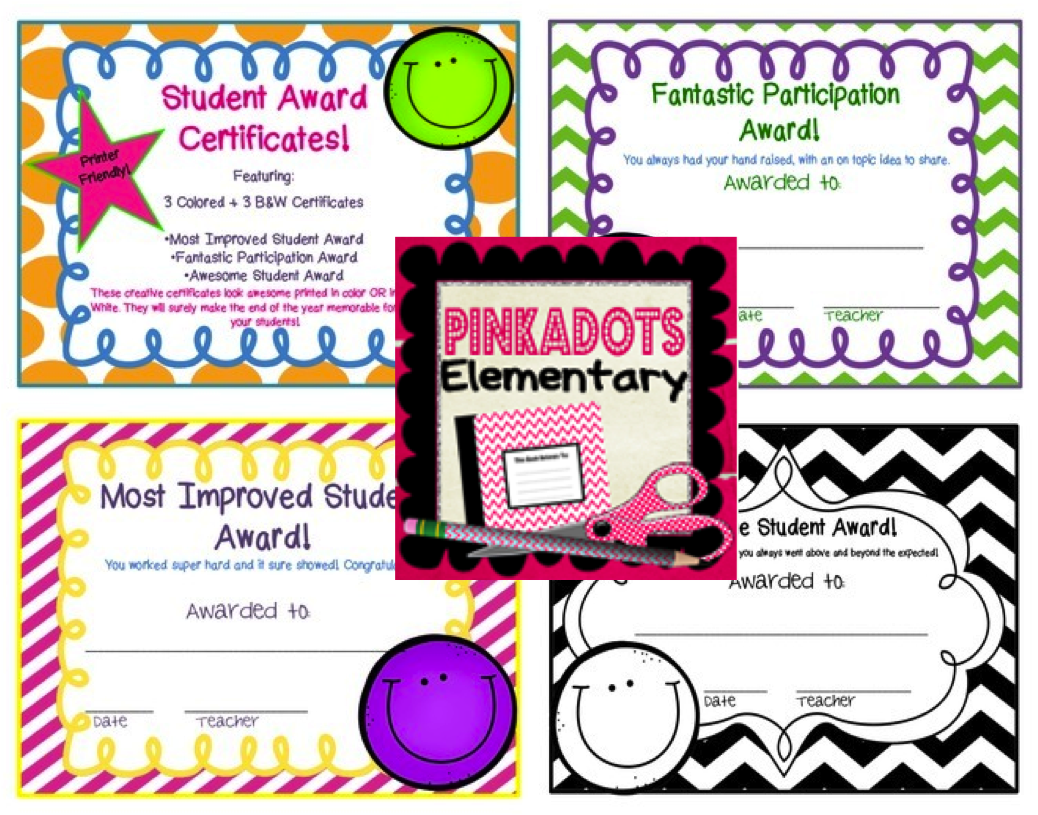 http://www.teacherspayteachers.com/Product/Freebie-Fun-End-of-the-Year-Student-Rewards-Black-and-White-and-Color-1215750